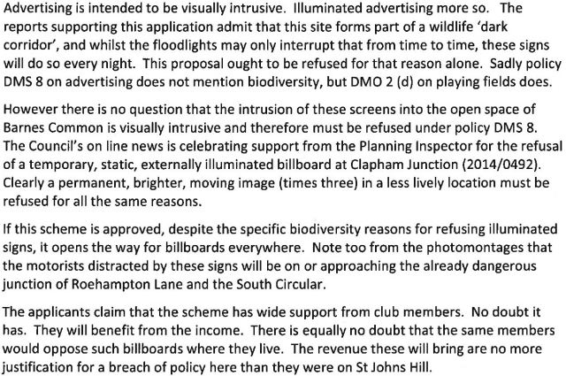 The Putney Society Objection Letter